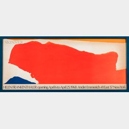 After Helen Frankenthaler (American, 1928-2011)      Poster for an Exhibition at André Emmerich Gallery
