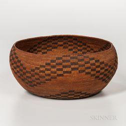 Central California Polychrome Basket