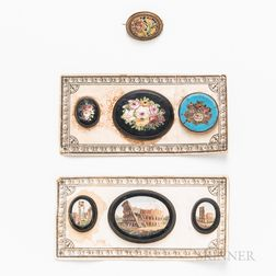 Seven Micromosaic Brooches