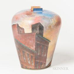 Lidya Buzio (Uruguayan/American, 1948-2014) Rooftops Studio Pottery Vase