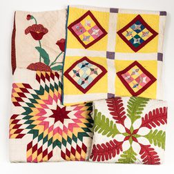 Four Antique or Handmade Quilts