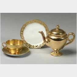 Large Collection of Gilt and Parcel Gilt Porcelain Tablewares