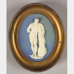 Wedgwood & Bentley Solid Blue Jasper Medallion