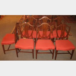 Set of Seven Federal Shield-back Side Chairs