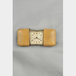 Silver and Shagreen Golf Watch, Movado