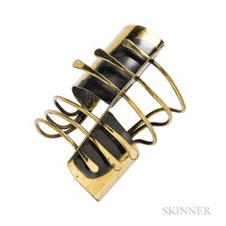 "Brass ""Modern Cuff"" Bracelet, Art Smith"
