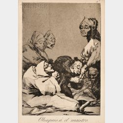 Jose Francisco de Goya y Lucientes (Spanish, 1746-1828)      Lot of Three Plates from LOS CAPRICHOS: