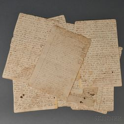 Conner, Samuel Shepard (1783-1820)   Political and Military Theory Manuscript, c. 1807.