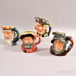Four Royal Doulton Ceramic Character Mugs