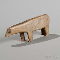 Eskimo Carved Antler Polar Bear