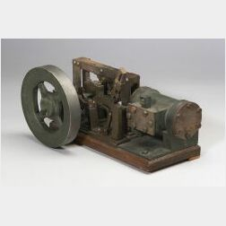 Working Model of a Horizontal Steam Engine