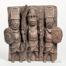 Benin-style Bronze Plaque