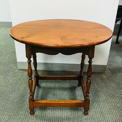 Pine and Maple Oval-top Tea Table