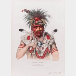 McKenney, Thomas (1785-1859) and James Hall (1793-1868) Eight Indian Portraits [from] History of the Indian Tribes of North America.