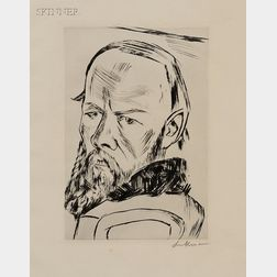 Max Beckmann (German, 1884-1950)      Dostoyevsky II