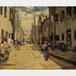 Lillian Mathilde Genth (American, 1876-1953)      Street in Chioggia, Italy