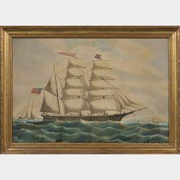 Edward J. Russell (Massachusetts/New Brunswick/Canada, 1832-1906)      Portrait of the American Bark Warren Ordway  .