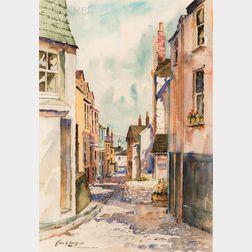 Cyril Lewis (British/American, b. 1903)      St. Ives, Cornwall, England.