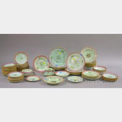 Ninety-four Pieces of Adams Calyx Ware Partial Dinner Set