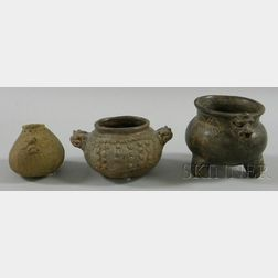 Three Pre-Columbian Brownware Bowls