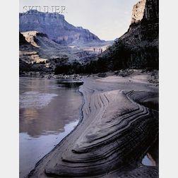 James Clinton Bones (American, b. 1943)      Eroding Sandbar, Grand Canyon of the Colorado River, Arizona