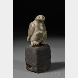 Inuit Carved Soapstone Owl