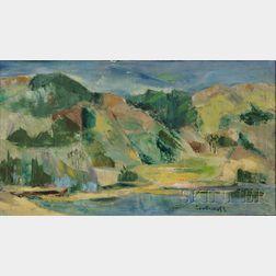 Betty E. Skolnikoff (American, 1902-1998)      Mountain Patterns