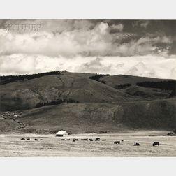 David L. De Harport (American, 1920-2001) Four Southwestern Views: Timberline Wood - Colorado,1951, Ranch - Colorado, 1945, Corrizo Mts