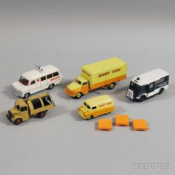 Five Meccano Dinky Toys Die-cast Metal Vehicles