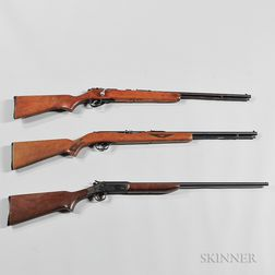 Two .22 Bolt-action Rifles, and a .410 Gauge Shotgun