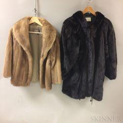 Two Mink Coats