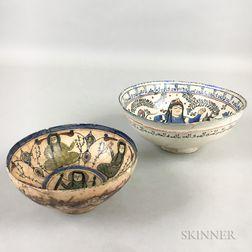 Two Minai Figural Bowls
