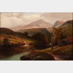 Alexander Williams (Irish, 1846-1930)      Scene in Borrowdale, Cumberland