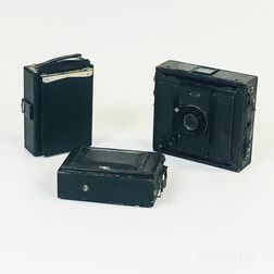 "C.P. Goerz ""Ango"" 9 x 12 cm Camera and Two Other Cameras"