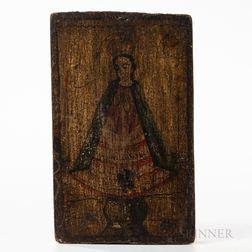 New Mexican Polychrome Wood Retablo