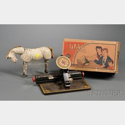 Two Table Toys and a Schoenhut Circus Horse