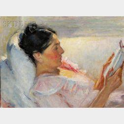 Robert Tolman  (American, b. 1886)      Woman Reading