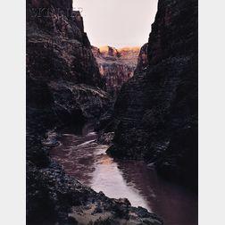 James Clinton Bones (American, b.1943)      Evening Light on the Rim of the Grand Canyon of the Colorado River, Arizona