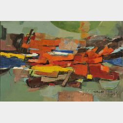 Betty E. Skolnikoff (American, 1902-1998)      Lot of Two Abstract Compositions: No. 84 and No. 109