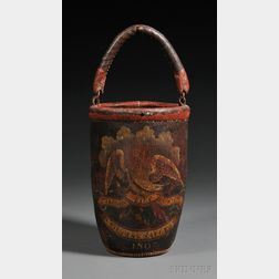 Polychrome Paint-decorated Leather Fire Bucket