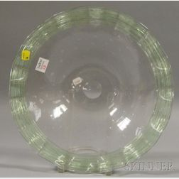 Steuben Pale Green Art Glass Center Bowl