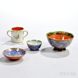 Four Wedgwood Lustre Items