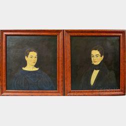 Three Framed Portraits of Siblings