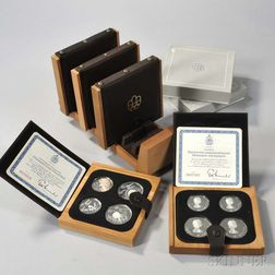 1976 Montreal Olympic Games Twenty-eight Coin Proof Set with Display.     Estimate $500-600