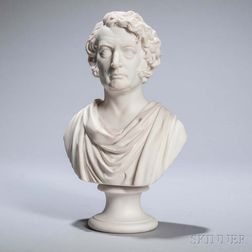 Charles Sumner Parian Ware Bust