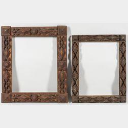 Two Elaborate Tramp Art Frames