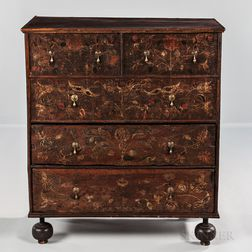Paint-decorated Chest over Two Drawers