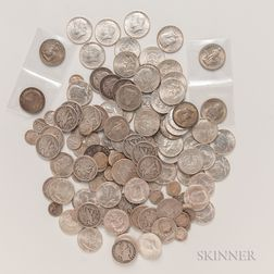Group of Half Dollars and Dimes