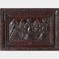 Carved Oak Biblical Panel