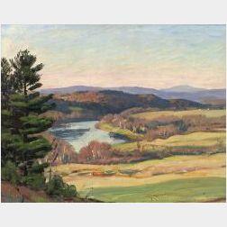 Everett Longly Warner (American, 1877-1963)  Connecticut River